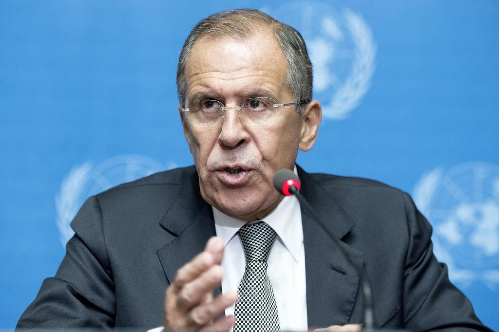 سرگی لوراو در ملاقات سازمان ملل درباره سوریه. عکس از سازمان ملل با استفاده از کریتیو کمونس